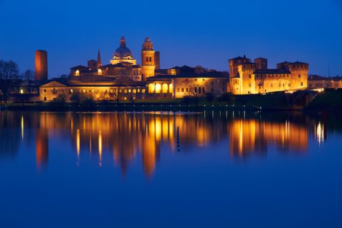 Mantova at dusk. Italy.See more beautiful Italy images and videos here: